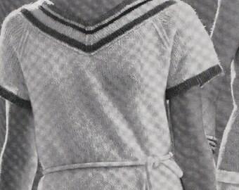 Knit Womens Dress Vintage Knitting PDF PATTERN Retro Mad Men