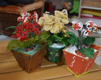 bead flowers vase