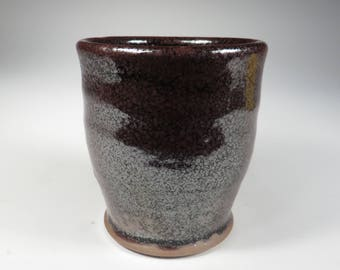 Black and Purple Iridescent Oil Spot Cup (648)
