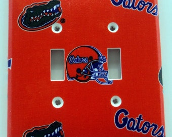 University of Florida Gators Print Double Toggle Light Switch Plate Cover