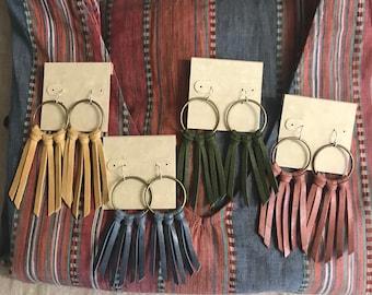 Fringe Earrings <Seashore Fringe>