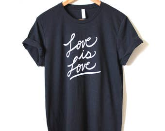 Love is Love, Equality, Pride Shirt, Unisex Crew Tee- MADE TO ORDER
