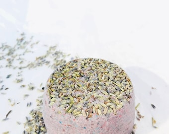 Lavender bath bomb, Anxiety relief, Vegan gift for her, Natural skincare, Organic bath bomb, Bridal shower favors, Lush bath bomb, Mom gift