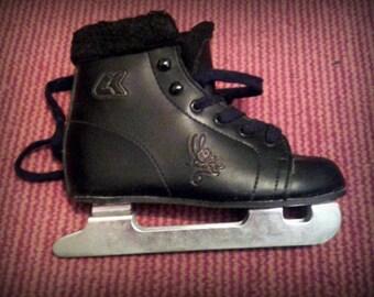 Vintage ice skates, black, rabbit, skating,children's sandals, sandals,rubber boots,waterproof,boots, red,grey, brown,black,genuine leather.