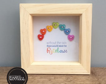 Small Rainbow picture frame quote