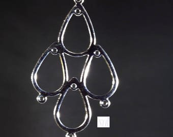 6 candlesticks reversible stainless steel drop multi clip 45x26mm