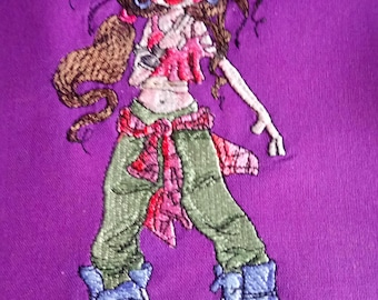 Abbie Attitude embroidered Tote Bag