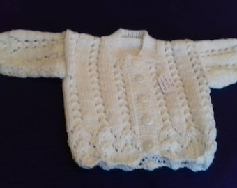 Baby girls white cardigan 0-3 months size