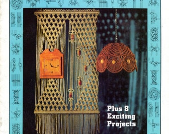 Vintage Guide To Macrame Knots PDF Instant Digital Download 1970s eBook Beginners How To Macrame Step By Step Lessons Plus 8 Projects