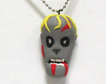 OOAK Handmade Zombie Walking Dead Pendant Necklace 03