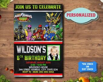 Power Ranger Invitation / Power Ranger Birthday / Power Ranger Party / Power Rangers Invitations / Power Rangers Printable InvitationsNR0003