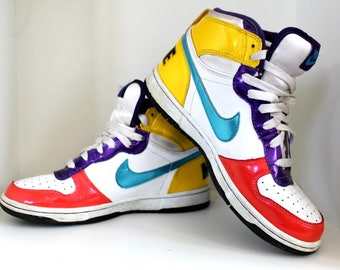 Vintage Nike Shoes 90's Nike Sneakers Colorful Nike Basketball Shoes Retro  Nike Sport Shoes Nike Swoosh