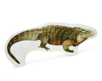 Iguana Cotton Photo Pillow