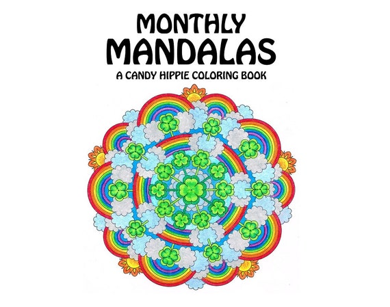 Monthly Mandalas Coloring Book printable adult coloring