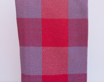 Woven Tea Towels, Handwoven Kitchen Towels, Cotton Hand Towels, Dish Towels, Chefs Towel, Hostess Gift, Red and Blue Woven Guest Towel
