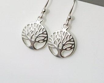 Sterling Silver Tree Earrings - Tree of Life Earrings