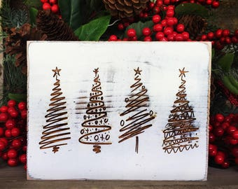 Rustic Christmas Tree Sign