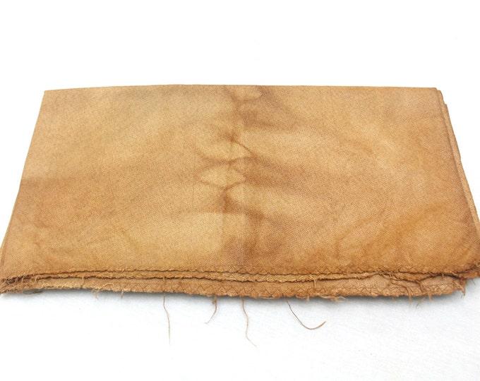 Kakishibu from Kyoto. Artisan Made Persimmon Dyed Thick Cotton Denim. Orange Rust Brown (Ref 1509-1512, 1515, 1517-1522)