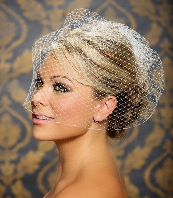 Birdcage Veil Blusher Bird Cage French Bridal Wedding Large Full