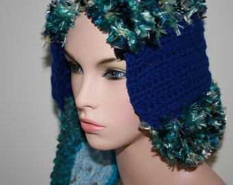 No: 7 Freeform crochet hat, wearable art, OOAK