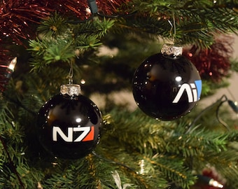 Mass Effect Christmas Ball Ornament - 60+ Designs Available