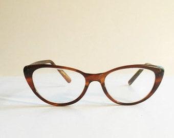 Vintage 1950's American Optical Tortoise Cateye Eyeglasses Frames, NOS, Unused American Optical Cat eye Glasses Frames, New Old Stock