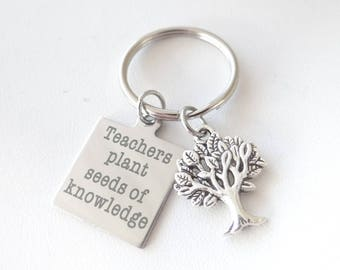 Teacher keychain, teacher appreciation, teacher gift, new teacher, teacher thank you