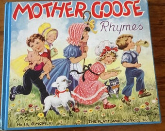 1950s Mother Goose Rhymes Book