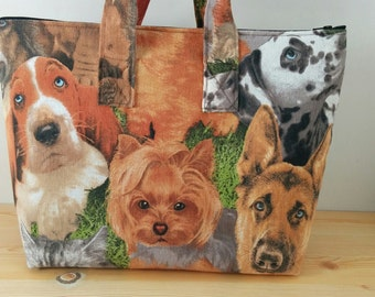 Dogs tote bag, dogs purse, cats tote bag, Dogs tote, canvas tote, cats bag, animals print,dogs tote bag, quilted bag, animals tote bag