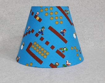 Mario on level lamp shade (Nintendo)