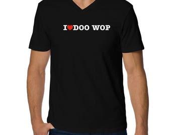 I Love Doo Wop V-Neck T-Shirt