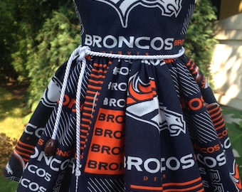 NFL Denver Broncos dress fits 18 inch dolls including American Girl Doll
