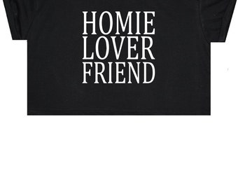 Lover Friend Crop Top T Shirt Tee Womens Girl Funny Fun Tumblr Hipster Swag Grunge Kale Goth Punk New Retro Vtg Fashion Indie Boho