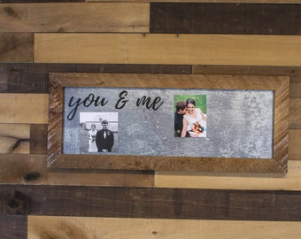 You and Me, Metal Sign, Metal Decor, Wall Art, Picture Frame, Anniversary Gift, Magnet Board, Gift for Wife, Home Decor, Picture Board, Home
