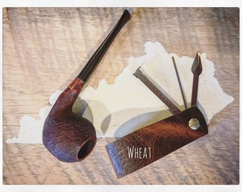 Leather Pipe Stand/Tool Combo - Wheat