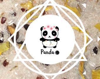MoonSalt: Fragranced Bath Salt with Selenite Panda