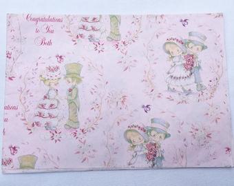 Vintage | Wedding | Big Eyed | Bride & Groom | Wrapping Paper #23