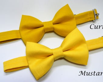 Mustard Yellow bow tie/Curry Yellow bow tie, boys bow tie,mens bow tie, baby bow tie, adult bow tie, wedding bow tie