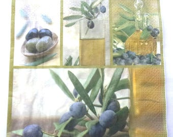 15 napkins bottle olive oil OLIVE REF.   3277
