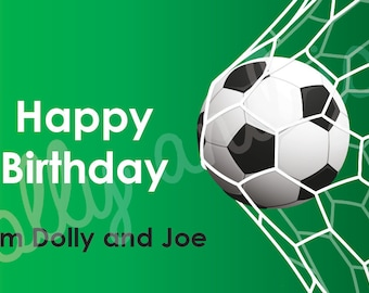 Personalised Soccer Birthday Gift Stickers (8.6cm x 4.9cm)