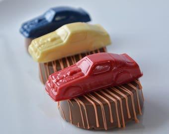 Race Car Chocolate Covered Oreos, Birthday Boy Favors, Chocolate, Boys First Birthday, Cars Birthday, Race Car Birthday, Race Car Party