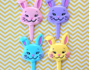 Puffy Bunny Cupcake Toppers (12)