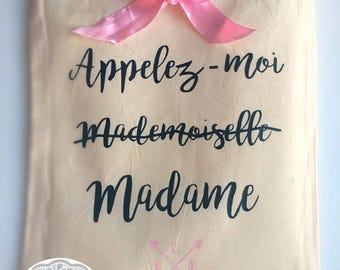 Tote bag for the bride cotton