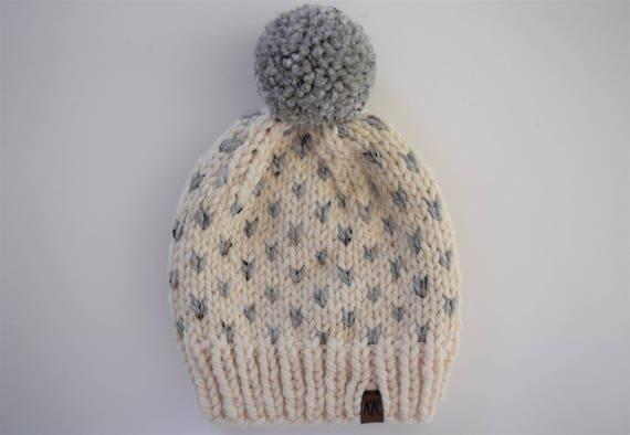 Fair Isle Hat Pattern // Hat Knitting Pattern // Little Hearts