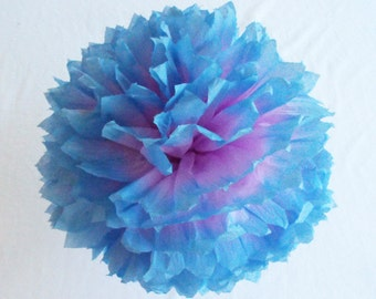Purple and Blue Decorations, Purple and Blue Paper Flowers, Purple and Blue Wedding, Purple Shower Decorations, Blue Baby Shower Decorations