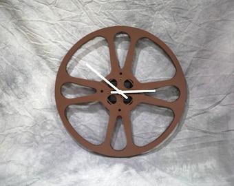 """Vintage 16mm 15"""" Movie Reel Clock"""