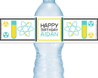SCIENCE LAB #Party Water #Bottle #Labels