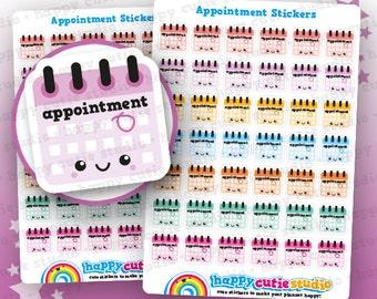42 Cute Appointment/Calendar/Schedule Planner Stickers, Filofax, Erin Condren, Happy Planner, Kawaii, Cute Sticker, UK