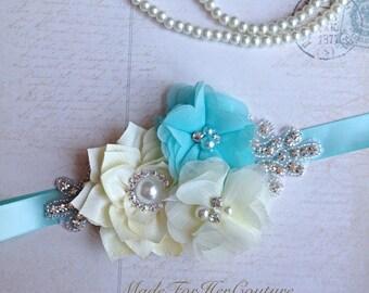 Wedding Sash, wedding belt,  bridal sash/belt, Bridal Belt, aqua Bridal Sash, Bridesmaid Sash/Belt, Flower girl Sash, flower girl belt