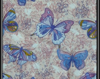 blue butterfly on floral background paper towel